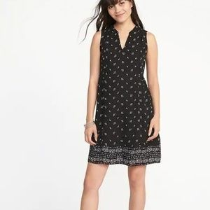 Old Navy Floral-Print Georgette Swing Dress Size S